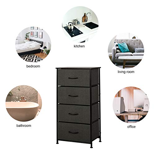4 Drawers Dresser Storage Organizer Unit for Bedroom, Hallway, Entryway, Closets