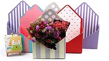 LLLucky Umschlag-Falten-Blumen-Verpackungs-Kasten-Hochzeits-Blumenstrau/ß-Speicher-gedruckte Pappblumen-Verpackenkasten B