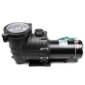 Trusonik 2hp high flow swimming pool pump inground or above ground large filter basket for Swimming pool filter pump motors
