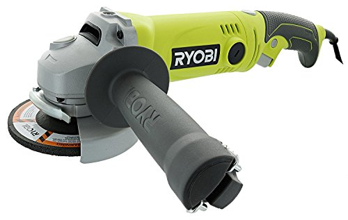 Ryobi AG454 7.5 Amp 120V AC 11,000 RPM Corded Angle Grinder w/ Rear Rotating Handle ()