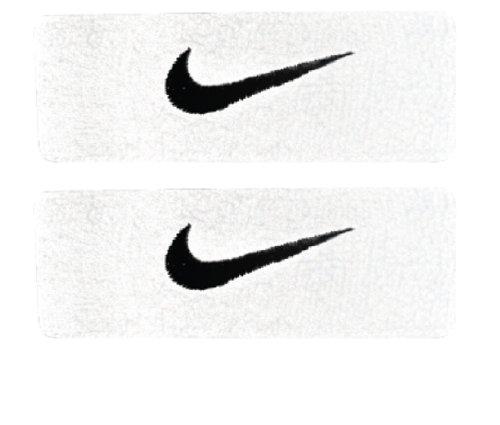 Nike Swoosh Bicep Bands (White/Black, Osfm)