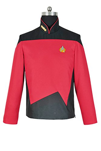 XOMO Star Trek: The Next Generation Cosplay Command Uniform Costume Male XL -