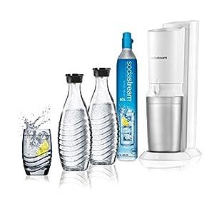 Sodastream Gasatore D'Acqua Frizzante Crystal Mega Pack, 2 Bottiglie di Vetro e 1 Cilindro CO2 inclusi, Bianco 21