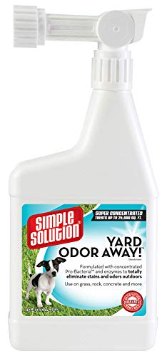 Simple Solution Yard Odor Away | Outdoor Odor Eliminator | Pet Odor Remover for Lawn and Yard | Hose Spray Attachment Ideal for Multi-Surface Outdoor Use | 32 Ounces