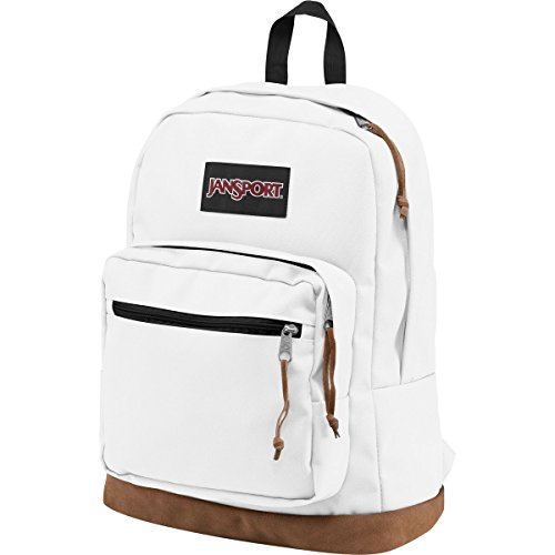 JanSport Right Pack Backpack White - White Patch Handle