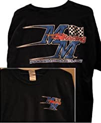 MM Racing Logoed T-Shirt (Large, Black)