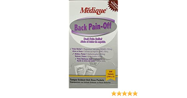 Amazon.com: Medique Back Pain-Off Pain Reliever Tablets 500 Per Box by Medique - MS71295: Health & Personal Care