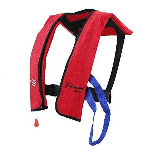 Eyson Inflatable Life Jacket Life Vest Basic Automatic/Manual (Red Auto)