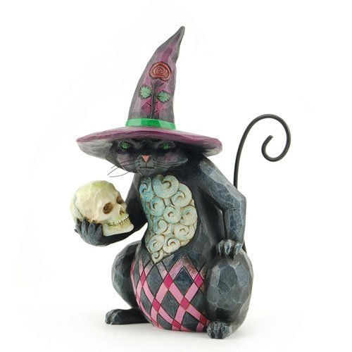 Enesco 4027796 Jim Shore Heartwood Creek Pint Sized Halloween Cat Figurine, 5-1/4-Inch -