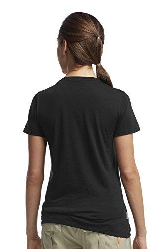 Crewe Da shirt Nero T Tech Icebreaker Donna Lite Manica Corta SwvpY4