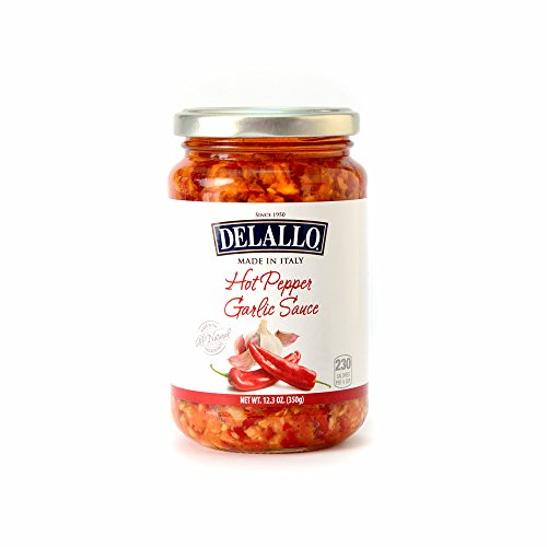 DeLallo Imported Hot Pepper Garlic Sauce, 12.3-Ounce Jars (Pack of 6) ()