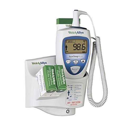 692 Thermometer (Welch Allyn 01692-300 SureTemp Plus 692 Electronic Thermometer with Wall Mount, Security System with ID Location Field, 9' Cord and Oral Probe with Probe Well)