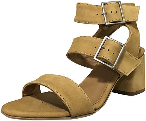 Firenze.Studio Womens Firenze Mid Heel Open Toe Sandals, Mustard, 7 M