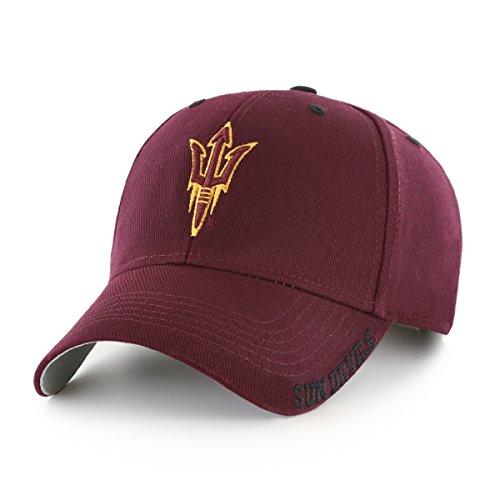 NCAA Arizona State Sun Devils Blight OTS All-Star Adjustable Hat, Dark Maroon, One Size (Arizona State Sun Devils Visor)