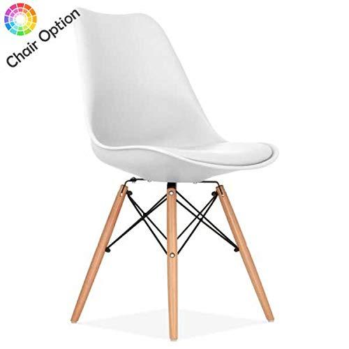 Mmilo Tulip Eiffel Dining Chairs (White)