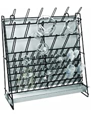 Heathrow Scientific HD23243A Glassware Drying Rack, Vinyl-Coated Steel Wire Construction, Self-Standing or Wall-Mountable, 462 X 182 X 525mm (L X W X H)
