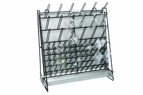 Heathrow Scientific HS23243A Glassware Drying Rack, Vinyl-Coated Steel Wire Construction, Self-Standing or Wall-Mountable, 462 x 182 x 525mm (L x W x H)