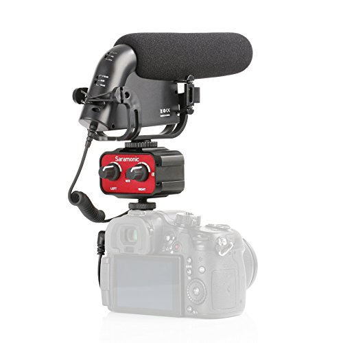 Movo Cinema Bundle with Shotgun Condensor Video Microphone w/Filters and 2-Channel Audio Mixer for DSLR Cameras & Camcorders