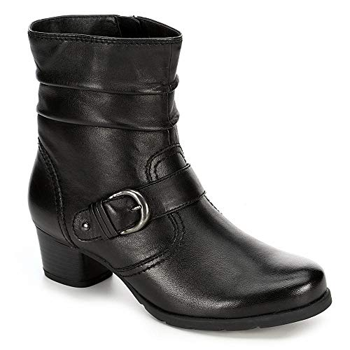 Medicus Womens Selina Leather Slouch Ankle Boot Shoes, Black, US 7.5 -
