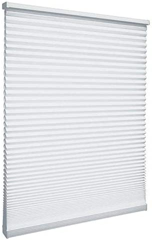 Cut-to-Width Snow Drift 9/16 in. Cordless Light Filtering Cellular Shade