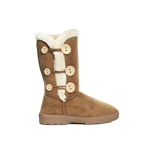 Sara Boots Ladies Inch Microsuede Z Cognac 10 Winter qqrF7Pw