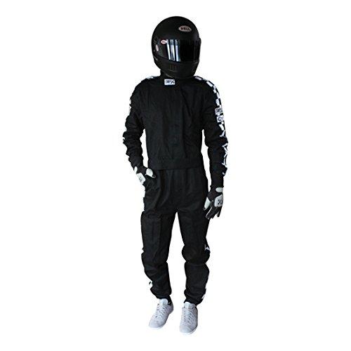 Finishline SFI-1 Qualifier 1-Piece Racing Suit, Black XXXXL by Finish Line (Image #2)