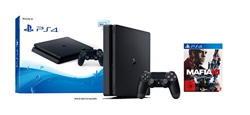 PlayStation 4 (500GB, schwarz, slim) Mafia III Bundle