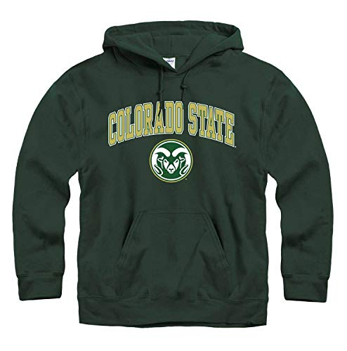 (Campus Colors Colorado State Rams Arch & Logo Gameday Hooded Sweatshirt - Green, X-Large)