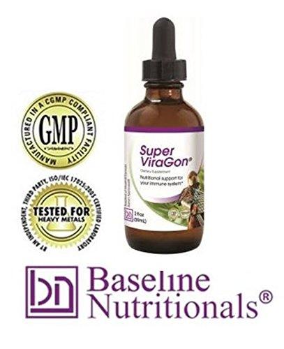 Super ViraGon - Garlic, Olive leaf extract, Oil of Oregano, and Liquid Zinc. Award-Winning (Olive Oregano Oil)