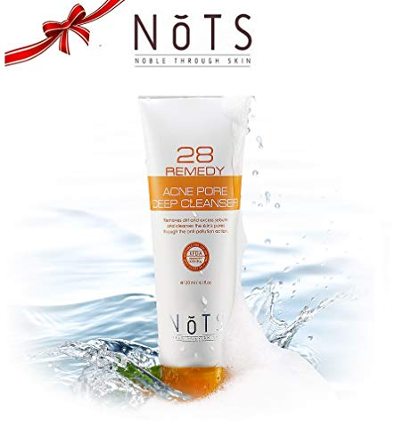 NOTS Korean Cosmetics All Natural Acne Pore Deep Facial Cleanser - Acne Treatment for Face with Salicylic Acid + Clear Blemishes + Effectively Reduce Excess Sebum, 4.1oz ()