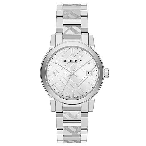 Stainless Steel Swiss Watch - Burberry Unisex Swiss Stainless Steel Bracelet Watch 38mm BU9037