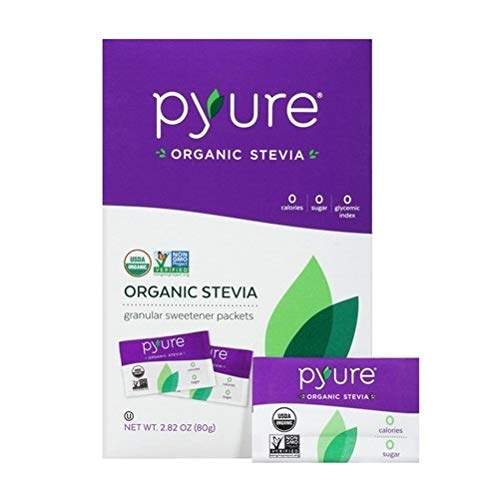 Pyure Organic Stevia Sweetener Packets, 0 Calorie, Sugar Substitute, 80 Count by Pyure (Image #2)