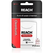 Reach Cleanburst Waxed Dental Floss, Oral Care, Cinnamon Flavored, 55 Yards...