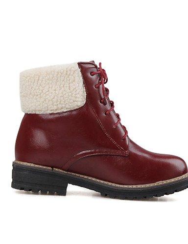 Stiefel Stiefel Schuhe Fleece Casual Fashion Beute Ferse Chunky Damen Citior Rund Beute Damen 5AwngTqqP