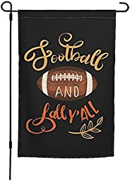 Garden Flag 12x18 Double Sided Football And Fall Y'All Funny Garden Banner For