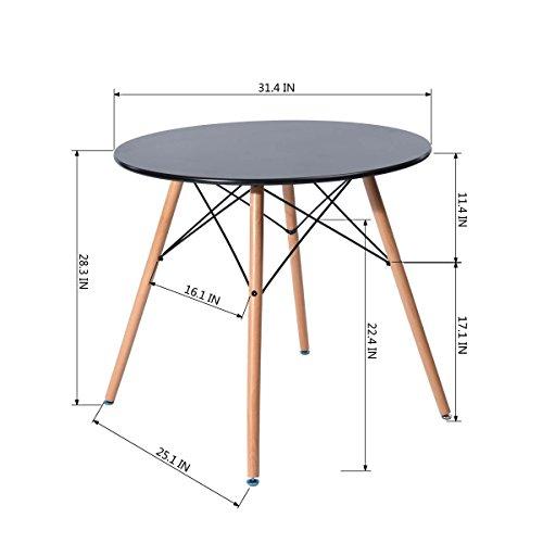 Buy round pedestal dining table black