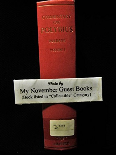 Historical Commentary On Polybius  Vol  1  Commentary On Books 1 6  Bks 1 6 V  1