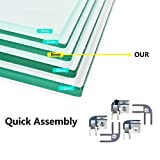 oneinmil Fire Table Tempered Glass Wind Guard