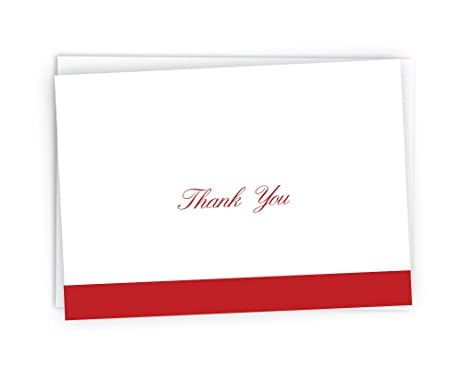 amazon com formal striped cursive thank you cards 48 cards
