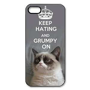 Apple iPhone 5 Black/White Case - Grumpy Cat iPhone 5 Snap On Hard Case - Vazza hjbrhga1544