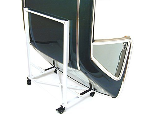 Mercedes SL Hard Top Storage Cart (WHITE) with Cover