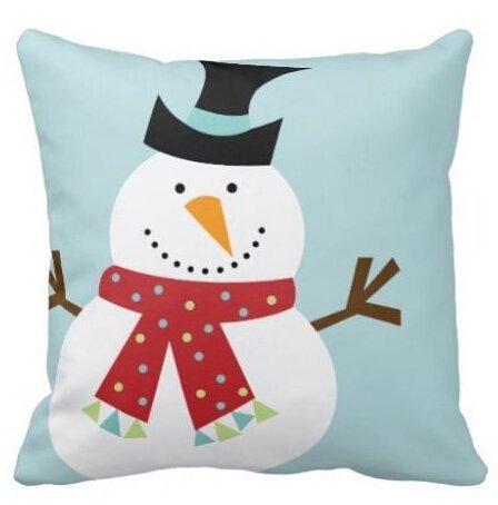 Price comparison product image Unique Style Funny Snowman Christmas Best Square Pillowcase 18x18 Inch