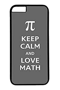 iPhone 6 Plus Case, Pi Keep Calm And Love Math Personalized Slim Protective Hard PC Black Case Cover for Apple iPhone 6 Plus(5.5 inch) Only by mcsharks
