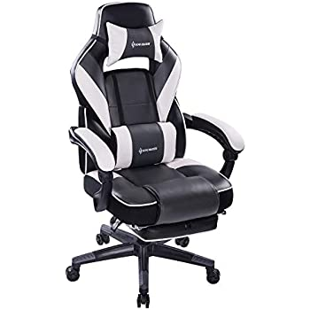 KILLABEE Massage Reclining Gaming Chair - Ergonomic High-Back Racing Computer Desk Office Chair with Retractable Footrest and Adjustable Lumbar Cushion ...