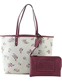 REVERSIBLE CITY TOTE WITH CROSS STITCH FLORAL, F25860, CHALK