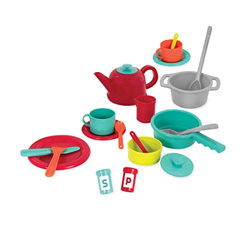41ILAa9jefL - Battat - Deluxe Kitchen - Pretend Play Accessory Toy Set (71 Pieces Including Pots & Pans)