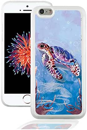 Sechao Custom Image iPhone 6s/6 Soft Case Protective TPU Case Cover for Apple iPhone 6s/6 - Clear Case (Cute Swimming Sea Turtle)