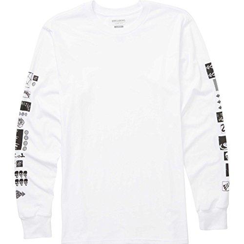 Billabong Men's Mercado Long Sleeve T-Shirt White Large