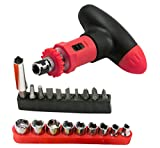 HYCy 20 Pcs T shape Screwdriver Sleeve Set Repair Tools for Car Cell Phones Laptops Precision Screwdriver Bits Household Tools