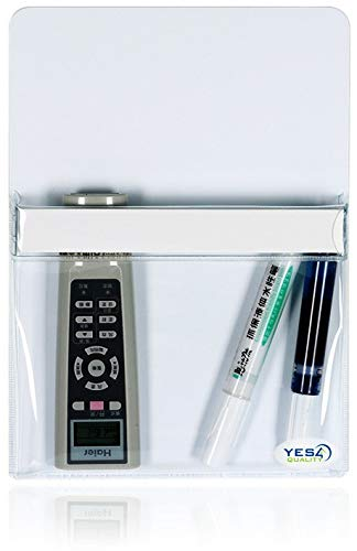 Magnetic Pen Holder for Refrigerator with Strong Magnetic Back - Dry Erase Marker Holder Ideal for Whiteboard, Fridge - Pencil Cup (Large, White)